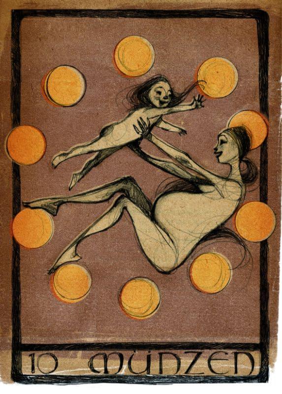 Tarotkarten: 10 der Münzen
