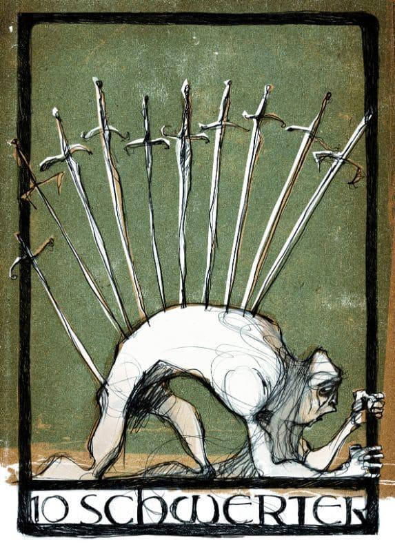 Tarotkarten: 10 der Schwerter