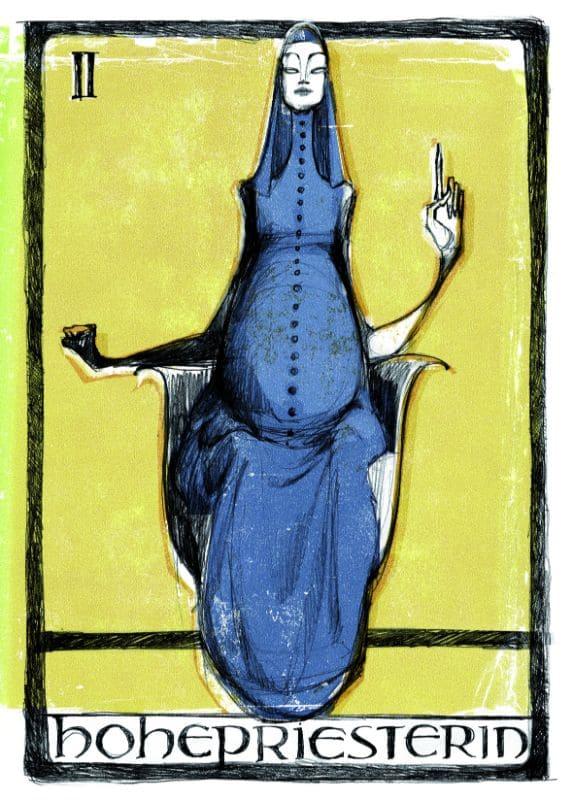 Tarotkarten: Die Hohepriesterin