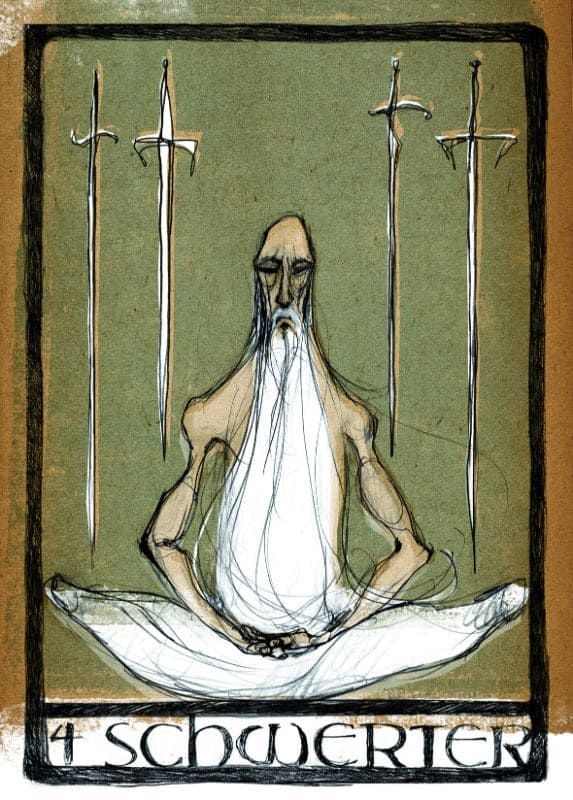 Tarotkarten: 4 der Schwerter