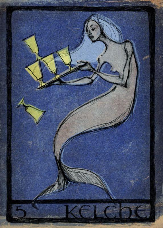 Tarotkarten: 5 der Kelche