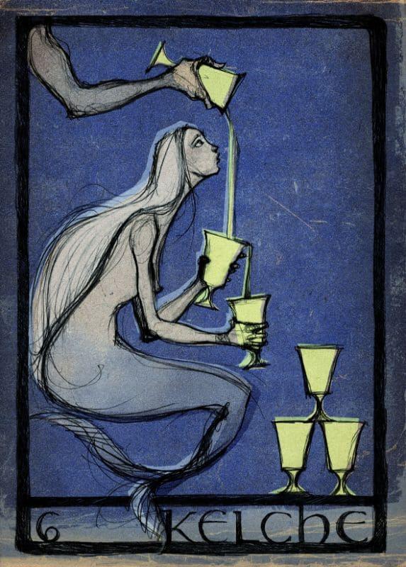 Tarotkarten: 6 der Kelche