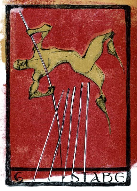 Tarotkarten: 6 der Stäbe
