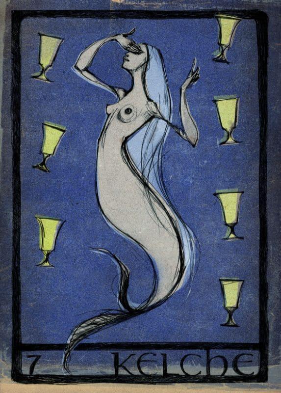 Tarotkarten: 7 der Kelche