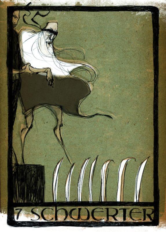 Tarotkarten: 7 der Schwerter