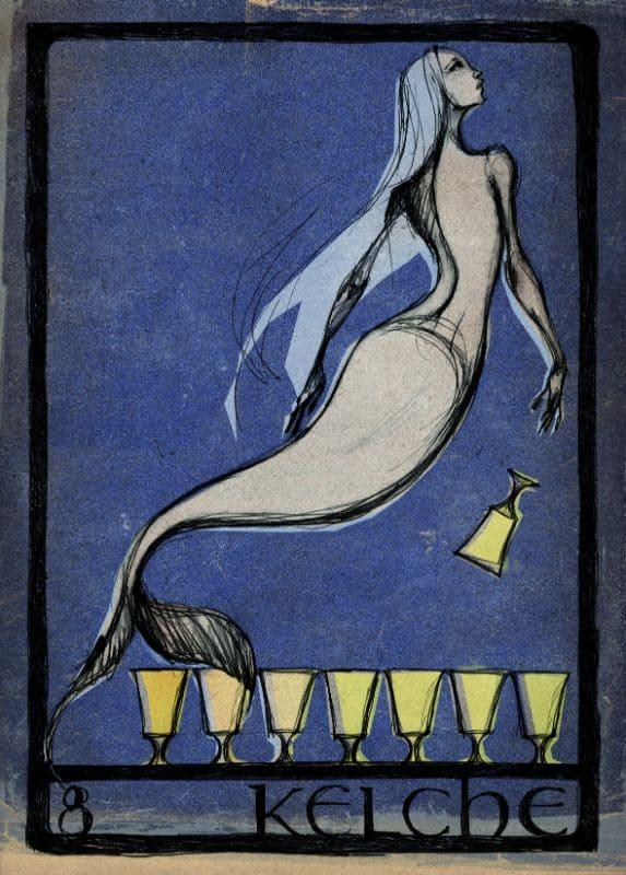 Tarotkarten: 8 der Kelche