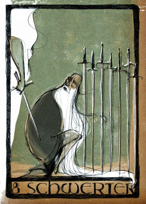 Tarotkarten: 8 der Schwerter
