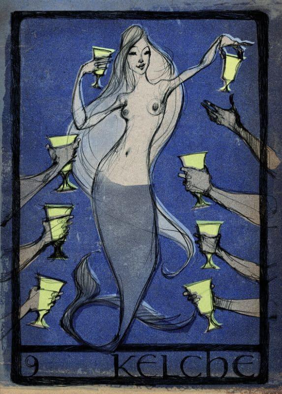Tarotkarten: 9 der Kelche