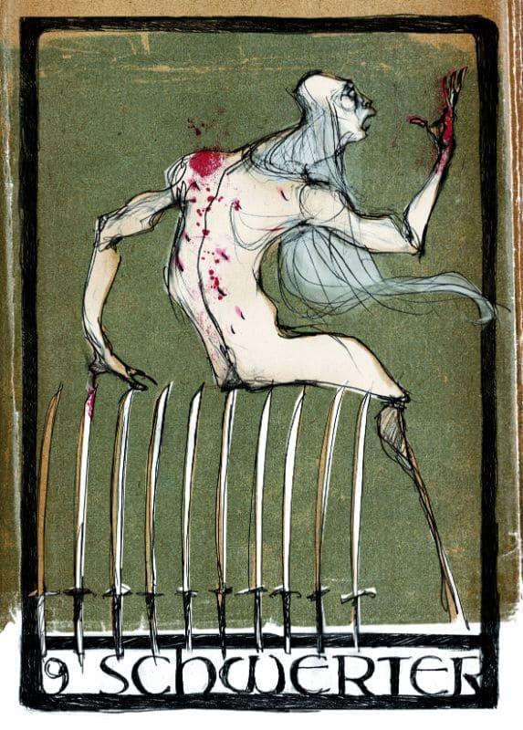 Tarotkarten: 9 der Schwerter