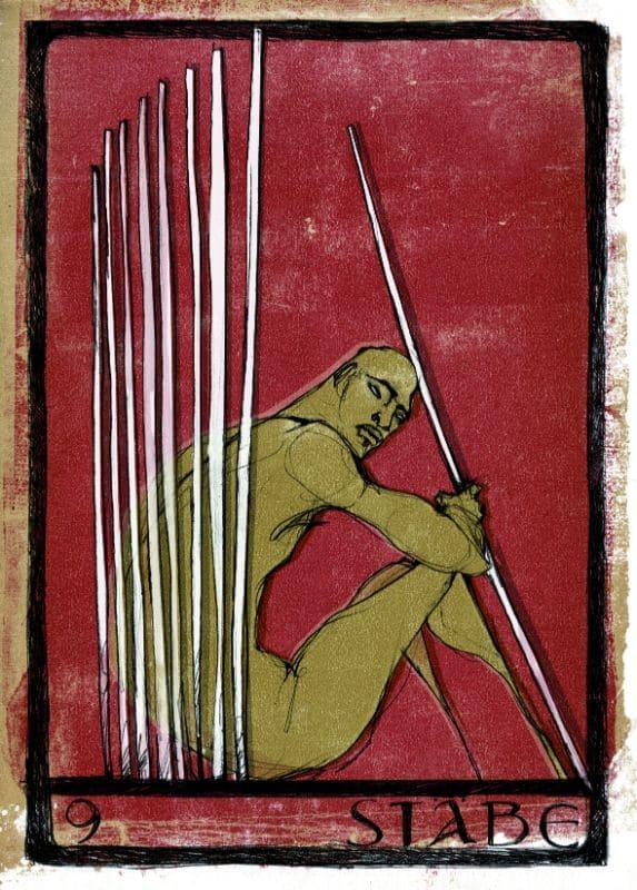Tarotkarten: 9 der Stäbe