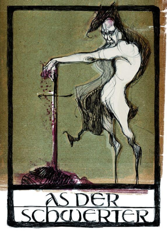 Tarotkarten: As der Schwerter