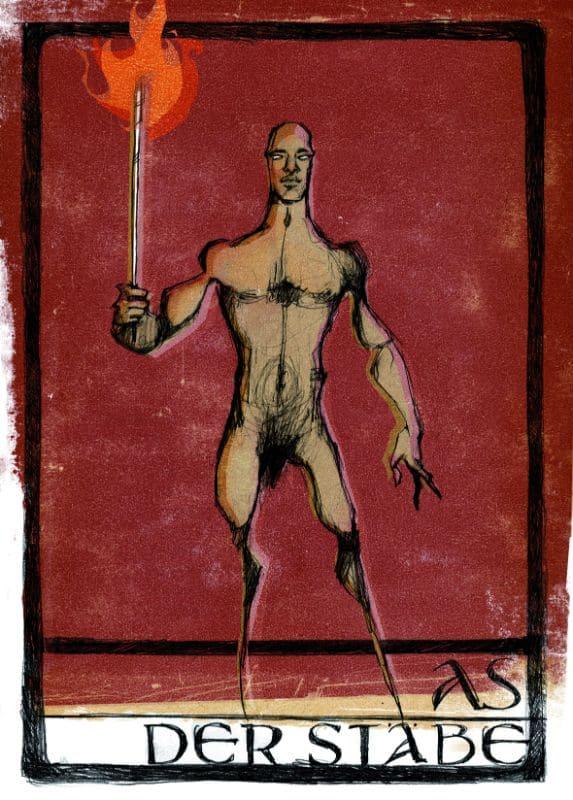 Tarotkarten: As der Stäbe