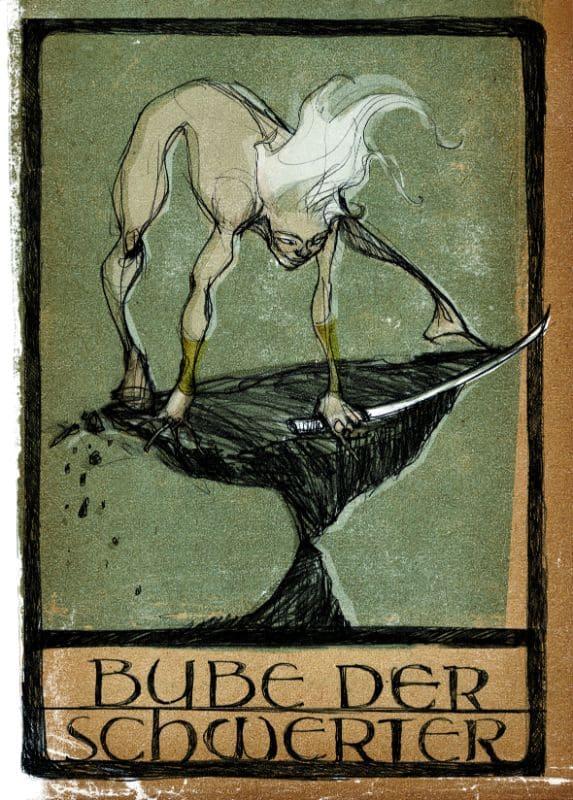 Tarotkarten: Bube der Schwerter