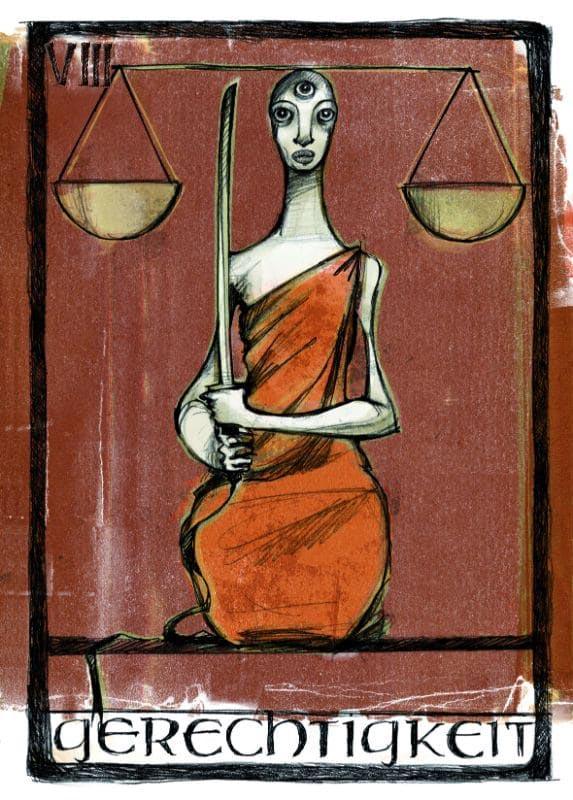Tarotkarten: Gerechtigkeit