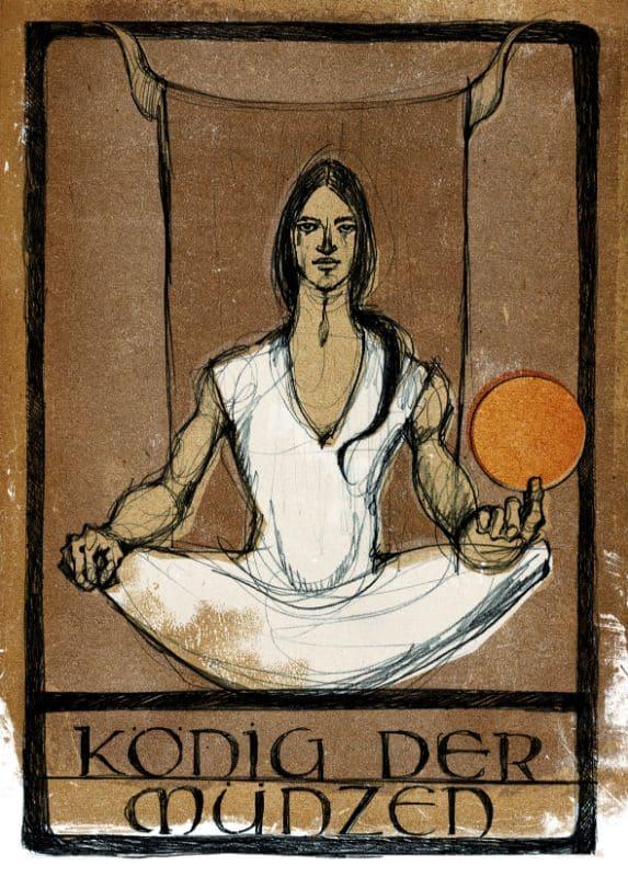 Tarotkarten: König der Münzen
