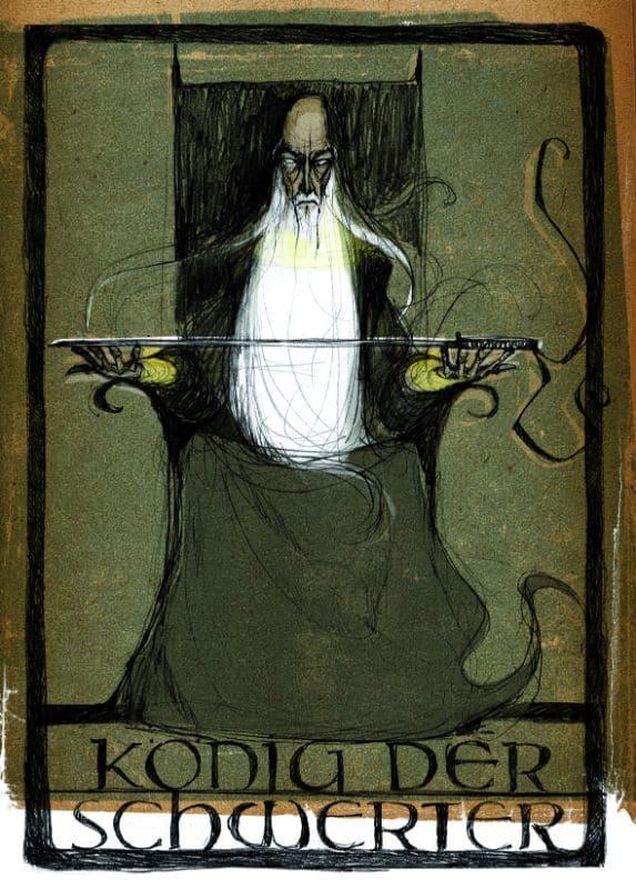 Tarotkarten: König der Schwerter