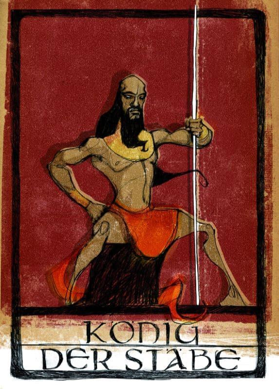 Tarotkarten: König der Stäbe