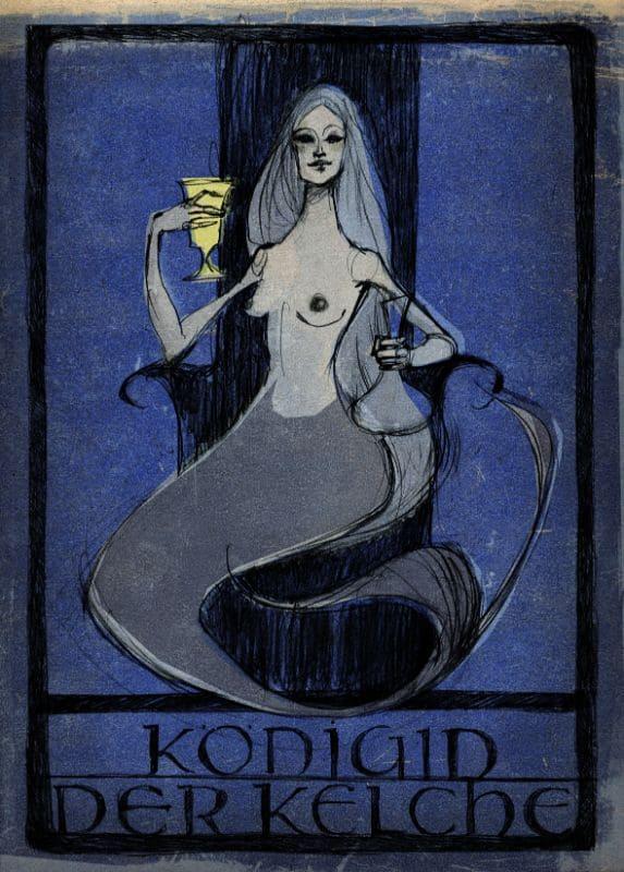 Tarotkarten: Königin der Kelche