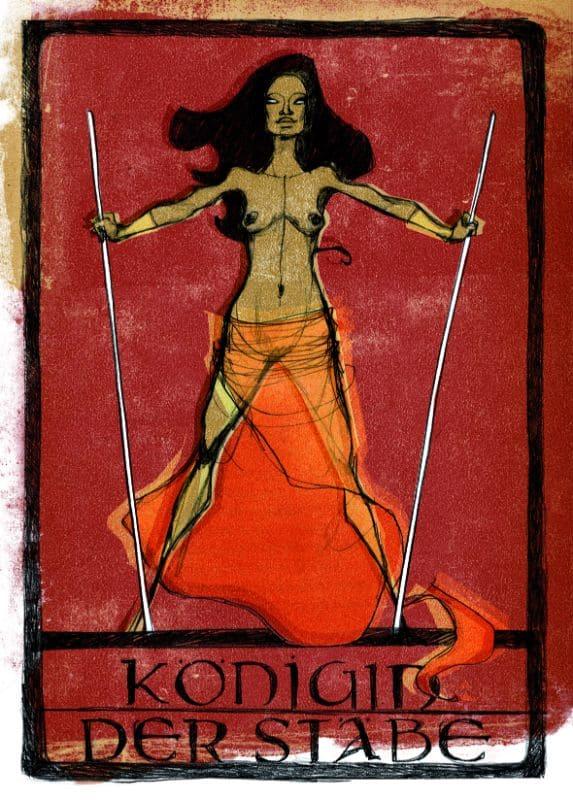 Tarotkarten: Königin der Stäbe