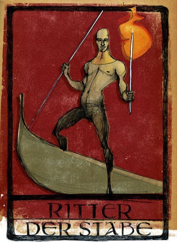 Tarotkarten: Ritter der Stäbe